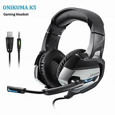 Onikuma Single Stereo Gaming Headset by Onikuma K5 Stereo Gaming Headset Bass Gaming Ear