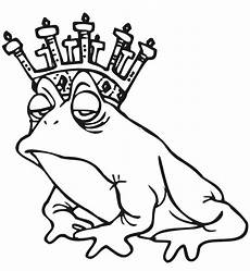 frog coloring page regal frog wearing a crown