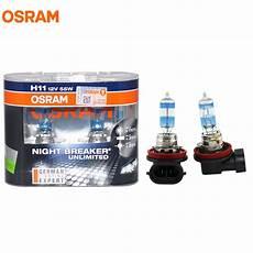 osram h11 3600k breaker unlimited 12v 55w headlight