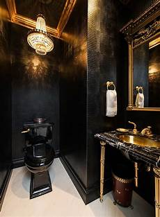 Bathroom Ideas Black by 15 Refined Decorating Ideas In Glittering Black And Gold