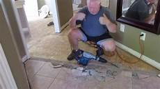 removing ceramic tiles the easy way youtube