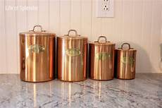 vintage kitchen canisters sets vintage copper kitchen canisters