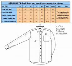 Mens Business Shirt Size Chart Men Mercerized Cotton Or Tc Long Sleeve Dress Shirts Buy