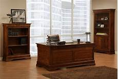 office home furniture dark wood stain desk group eco friendly home office