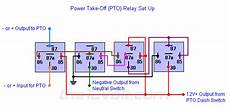 power take off pto two inputs one output only once relay wiring diagram