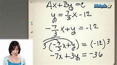 finding the equation of a line in standard form youtube