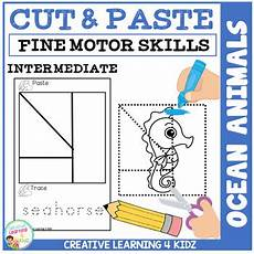 cut and paste motor skills worksheets 20651 cut and paste motor skills puzzle worksheets animals