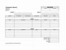 labor receipt template free labor invoice template printable invoice template