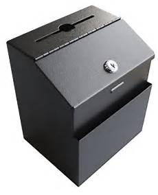mcb metal suggestion box with lock for wall