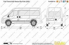 The Blueprints Vector Drawing Ford Transit Swb