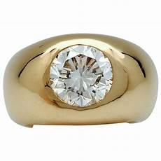 bague jonc or jaune diamant 3 cts