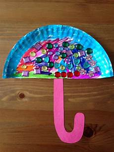 Paper Plate Umbrella Craft Preschool Craft Crafts For