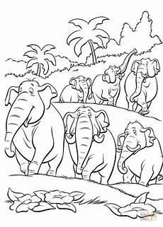 Dschungelbuch Figuren Malvorlagen Ausmalbild Elefanten Im Dschungel Ausmalbilder
