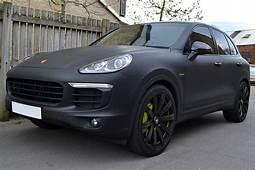 Porsche Cayenne Hybrid Wrapped In Matte Black  Reforma UK