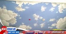 Gambar Lukisan Awan Di Plafon