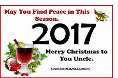 merry christmas 2017 to uncle love text messages