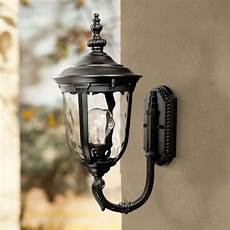 timberland traditional outdoor wall light fixture texturized black upbridge 16 1 2 quot clear