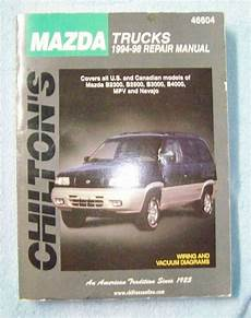 free auto repair manuals 1994 mazda mpv spare parts catalogs chilton s mazda trucks 1994 98 repair manual wiring vacuum diagrams 46604 repair manuals