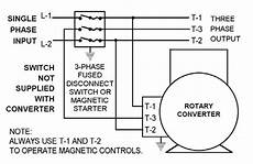 phase converter wiring diagram rotary phase converter set up