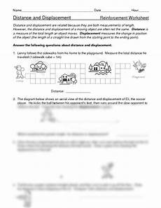distance displacement worksheets