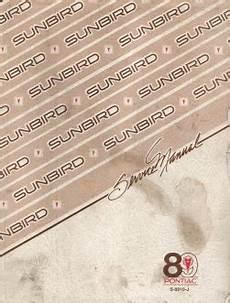 auto repair manual online 1990 pontiac sunbird instrument cluster 1989 pontiac sunbird factory service manual