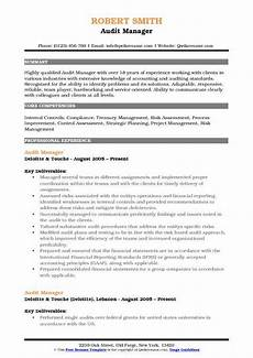 audit manager resume sles qwikresume