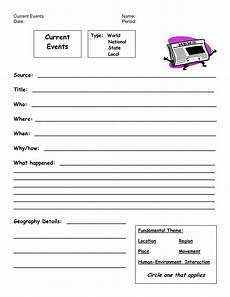 8 best images of weekly current events worksheet current events report format current events