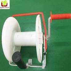 wind up reel poly electric fence wire rope farmrope solar grazing buy wind up reel