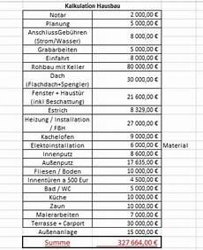 hausbau kalkulation bauforum auf energiesparhaus at
