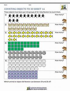 addition worksheets to 30 9070 1st grade counting worksheets objects to 30 1a