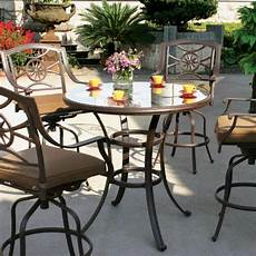 bar set darlee ten star 5 piece cast aluminum patio bar set with