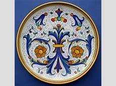 Italian ceramic wall plates vases candlesticks, Italian