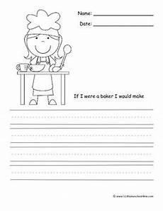 community helper writing prompts kindergarten 1st grade