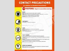 cdc contact precautions sign printable