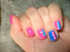 tracy s nail art club pink and blue just us two taboo