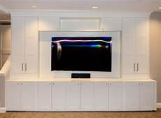 Kitchen Cabinets Entertainment Center by Custom Built Ins For Media Center Using Ikea Cabinets In