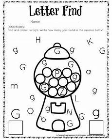 letter g matching worksheets 24631 letter find worksheets with a freebie alphabet preschool preschool worksheets