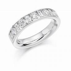 18ct white gold 1 5ct brilliant cut baguette cut
