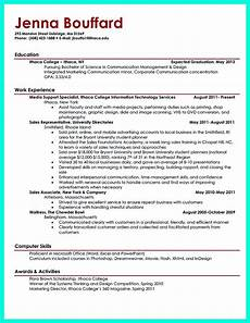 college student resume for world of reference