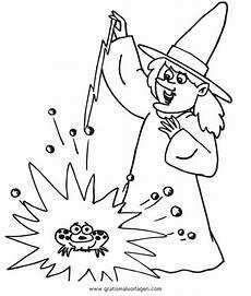 zauberin 13 gratis malvorlage in fantasie zauberer ausmalen