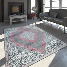 teppich rosa grau orient teppich ornamente rosa teppich de