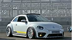 Customized To Impress White Volkswagen Beetle Dressed In