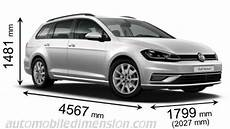 golf 7 variant länge dimensions of volkswagen cars showing length width and height