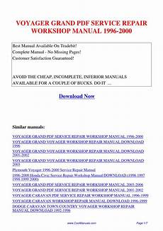 car owners manuals free downloads 1992 plymouth grand voyager engine control voyager grand service repair workshop manual 1996 2000 by kai kaik issuu