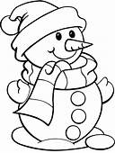 Printable Snowman Coloring Pages For Kids Free