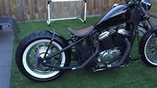 honda shadow vt 600 honda shadow vt 600 c bobber custom exhaust great sound