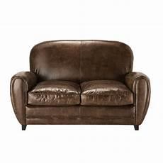 sessel divano divano vintage marrone in cuoio 2 posti oxford maisons