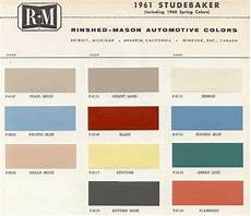 1961 studebaker color sle chips card oem colors in