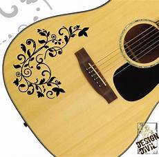 acoustic guitar decals the vine swirl quality vinyl decal for acoustic electric bass guitars ebay