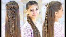 half up bow combo cute hairstyles youtube